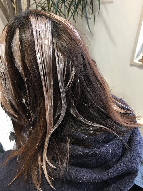 白髪染カラーリング人気ハイライト調布美容院