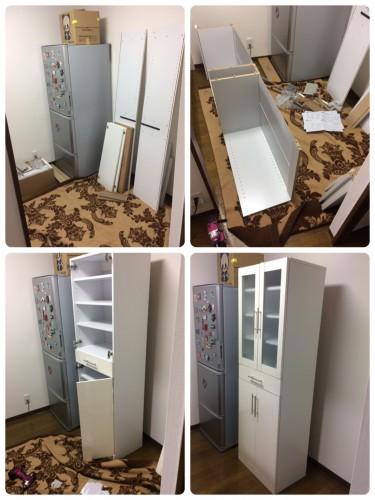 江戸川区、家具組立、日曜大工、食器棚、格安お見積り