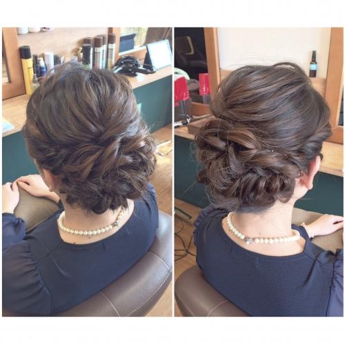 結婚式 お呼ばれヘア パーティーヘア 髪型 ママヘア