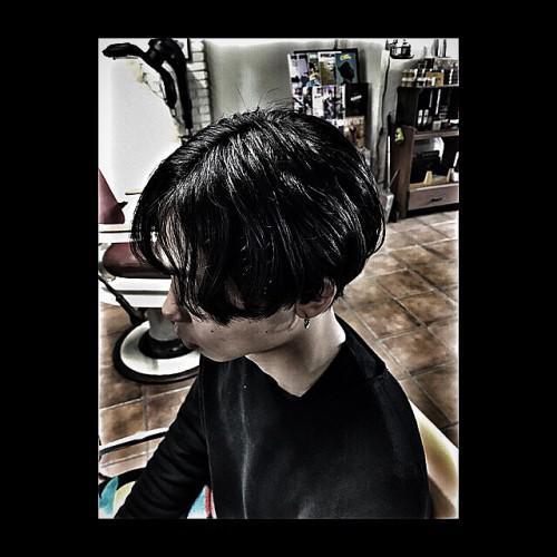 メンズパーマ メンズショート 理容室 barber 新潟