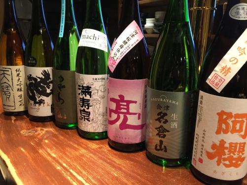 今週入荷の日本酒(阿櫻・満寿泉・龍力・天寶一)