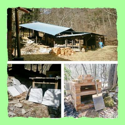 陶芸教室 国立けんぼう窯 登り窯の準備と、ビザ窯つくり。