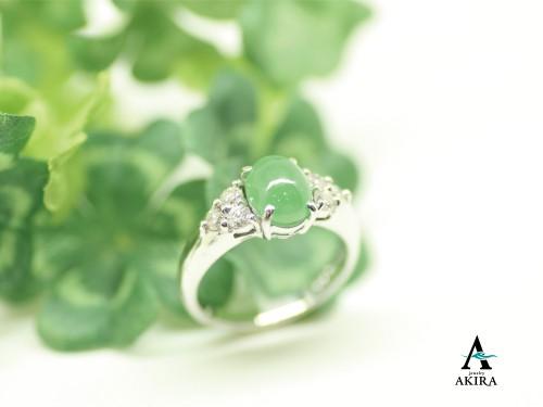 翡翠の指輪をリフォーム千葉市からのお客様