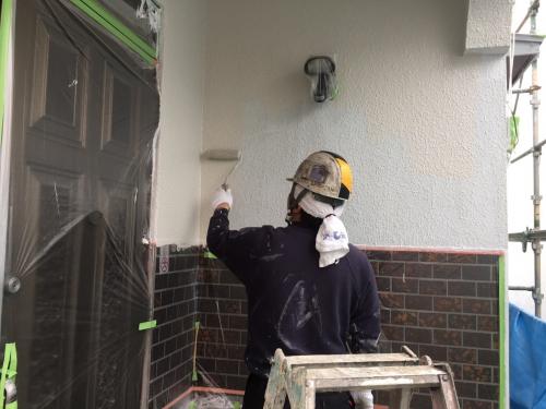 埼玉県草加市I様邸 外壁塗装です。