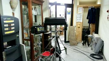 昨日は、某番組のロケのお手伝いをしました。国立 けんぼう窯