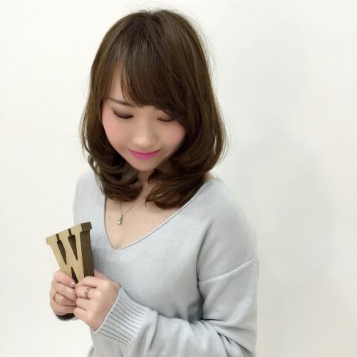 ヘアスタイルセミロング髪型カラー調布美容院