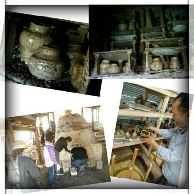 登り窯で焼いた作品を窯出ししてきました。国立けんぼう窯