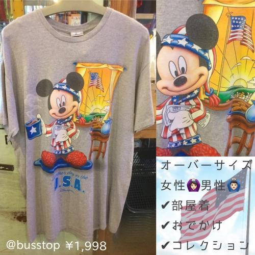 ミッキーマウスオーバーサイズTシャツ入荷です!