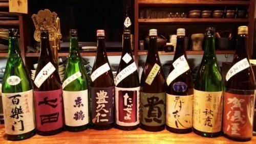 日本酒の新顔は百楽門・東鶴・貴・寿喜心・賀儀屋・秋鹿等です