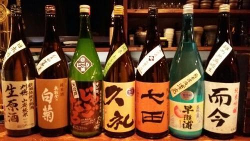 日本酒の再入荷は刈穂・白菊・天の戸・久礼・早瀬浦・而今等です