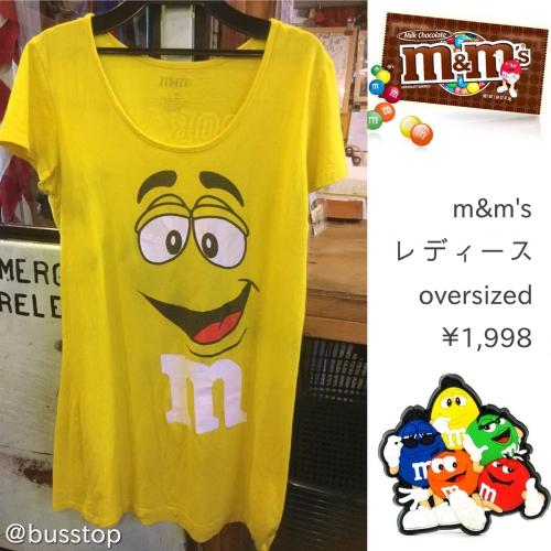 m&mのレディースオーバーサイズTシャツが入荷です!