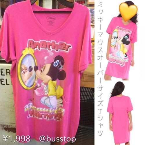 ミニーマウスオーバーサイズTシャツ入荷です!