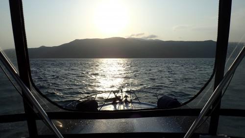 大島三原山とサンセット