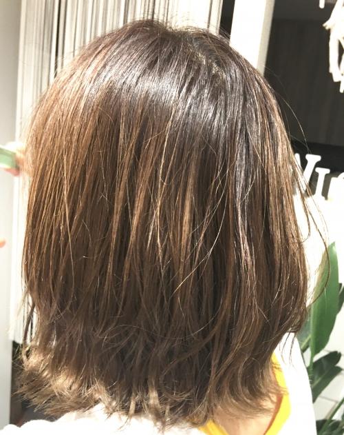 人気ヘアスタイル外ハネボブ髪型調布美容院
