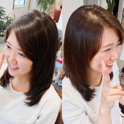 人気セミロング髪型おすすめヘアスタイル調布
