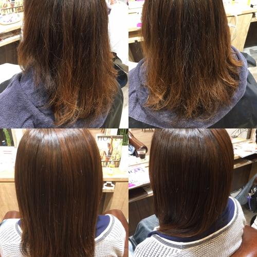 人気ツヤ出しストレートヘアスタイル調布美容院