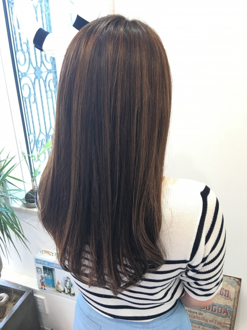 ハイライトカラーリング人気髪型ヘアスタイル