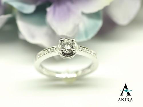 結婚25周年記念に婚約指輪をリフォームいたしました