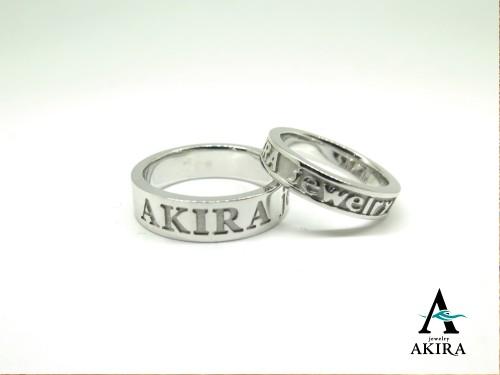 結婚指輪やペアリングにネームリング