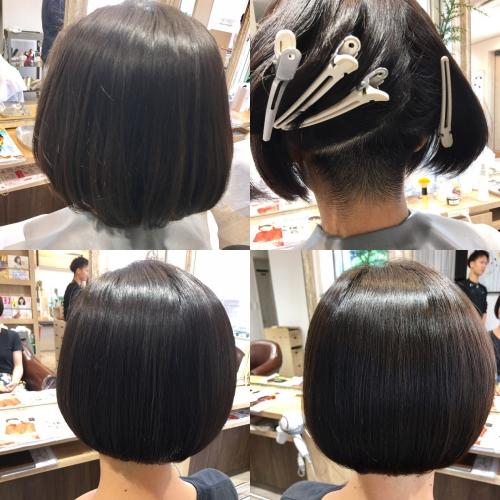 ボブ刈り上げ人気ヘアスタイル髪型調布美容院