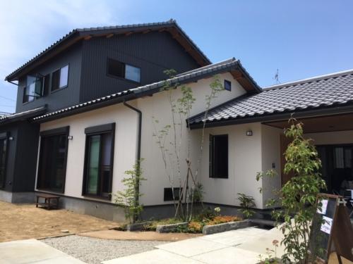 曙町「和善の家」完成見学会初日でした。