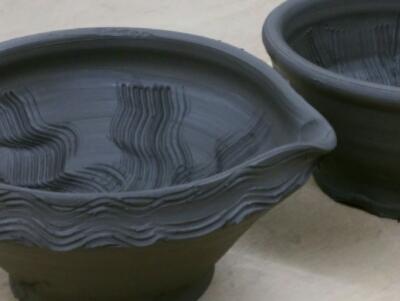 陶芸教室 国立けんぼう窯 7月の集中講座fは備前のすり鉢。