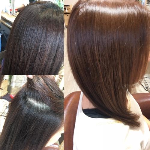 カラーリングナチュラルヘアスタイル調布美容室
