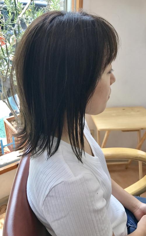 ブルーベージュ外ハネ ヘアスタイル☆ 調布美容院