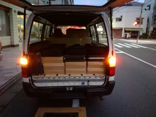 墨田区から江戸川区のレンタル倉庫への引越。