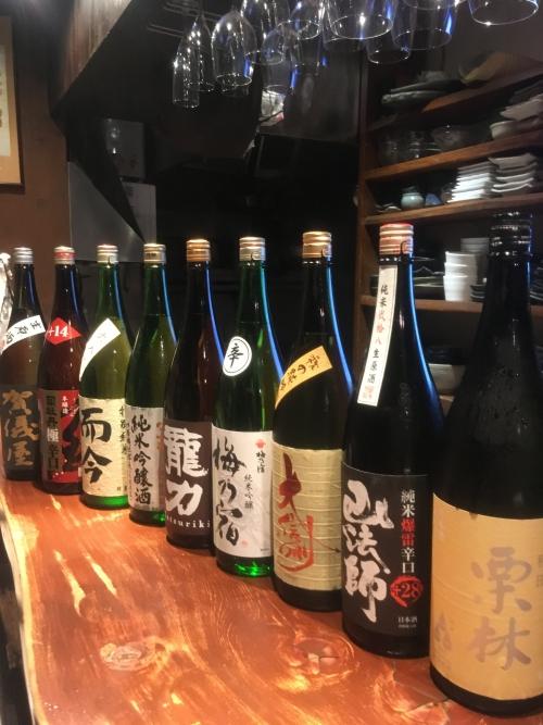 今週入荷の日本酒(栗林・大信州・龍力・而今・賀儀屋)