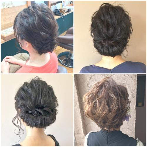 結婚式お呼ばれヘア アップスタイルアレンジ 髪型