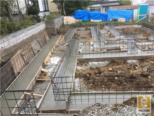 ☆新築戸建物件☆札幌市建築中現場情報を更新!コンクリート打設