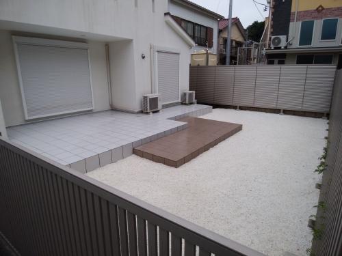 横須賀市で外構工事。