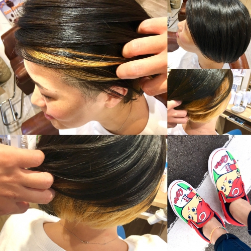 おすすめ人気インナーカラー髪型調布美容院