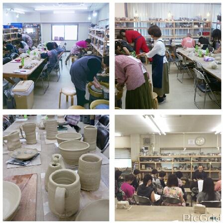 電動ろくろの集中講座開催しました。陶芸教室 国立けんぼう窯