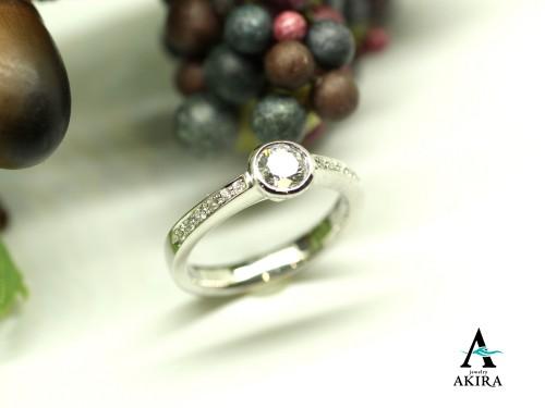 0.4カラットの立て爪指輪をシンプルな普段使いにリフォーム