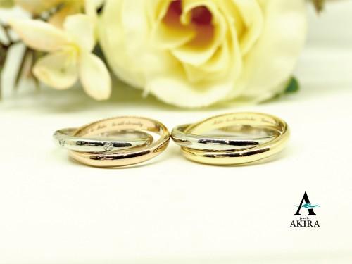 2連リングの結婚指輪のオーダーメイド千葉市若葉区から御来店