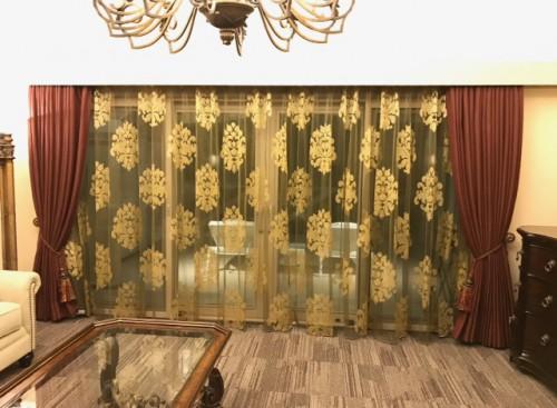 ホテル|ベルベット|ゴールド|アンティーク|オーダーカーテン