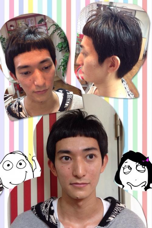 前髪ぱっつりスタイル