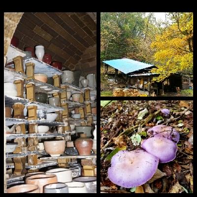 陶芸教室 国立けんぼう窯 小雨の中で登り窯の窯出し。