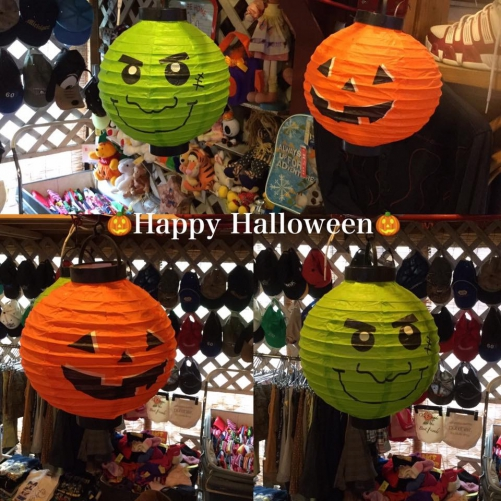 Happy Halloween店内で可愛い♡提灯がお出迎え☆