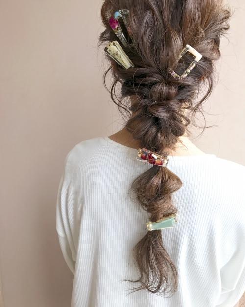 ハンドメイドヘアアクセサリー ciim ダウンスタイル