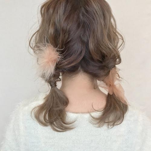 シルソワ ふわふわピン ツインテール ヘアアレンジ 髪型