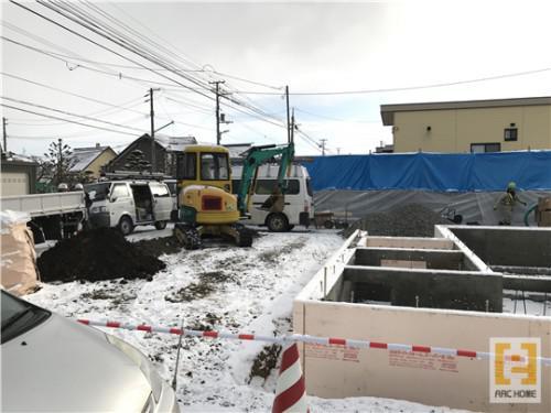 ☆新築戸建物件☆江別市建築中現場情報を更新!暗渠排水設備工事
