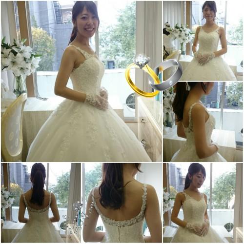 沖縄でリゾ婚〜背中あきのドレスで!
