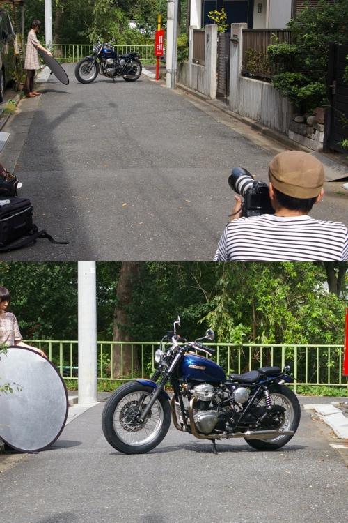 バーニング撮影風景 W400編