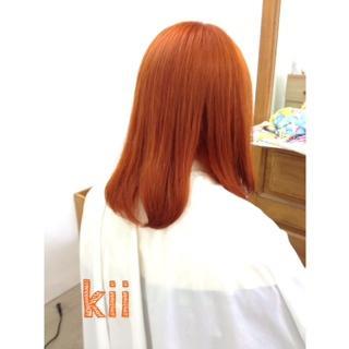 ブリーチおしゃれカラー☆オレンジ!