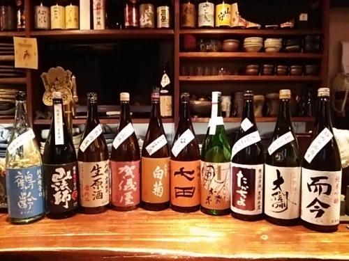 日本酒の再入荷は鶴齢・賀儀屋・奥能登の白菊・たかちよ等です