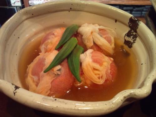 トマトの宮崎地鶏もも肉詰め葛煮 大人気です