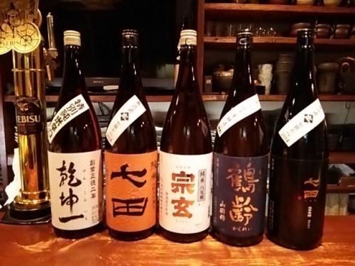 日本酒の再入荷は宗玄・七田・乾坤一・鶴齢です